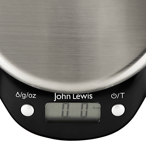 Buy John Lewis Black Disc Digital Kitchen Scale, 5kg Online at johnlewis.com