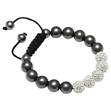 Buy Adele Marie Diamante and Haematite Shambala Bracelet Online at johnlewis.com