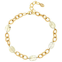 Buy Adele Marie Opaque Glass Bead Link Neckalce, Gold Online at johnlewis.com