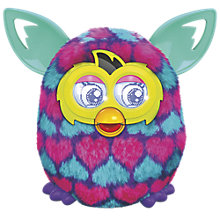 Buy Furby Boom, Pink/Blue Love Hearts Online at johnlewis.com