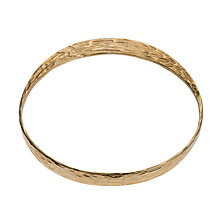 Buy Etrusca Textured 18ct Gold Plated Bronze Bangle, Gold Online at johnlewis.com
