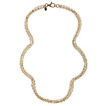 Buy Etrusca 18ct Gold Plated Bronze Multi-Strand Rolo Necklace, Gold Online at johnlewis.com