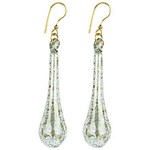 Buy Murano 1291 18ct Gold Plated Murano Glass Sponged Tear Drop Earrings, Blue Online at johnlewis.com