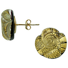 Buy Murano 1291 Gold Leaf Elements Murano Glass Rose Stud Earrings Online at johnlewis.com