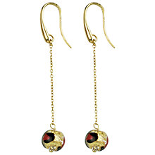 Buy Murano 1291 18ct Gold Plated Murano Glass Chain Drop Hook Earrings Online at johnlewis.com