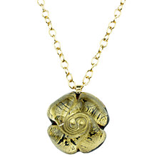 Buy Murano 1291 Gold Leaf Elements Murano Glass Rose Pendant Online at johnlewis.com