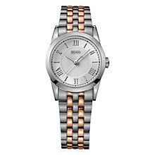 Buy Hugo Boss 1502308 Women's Silver Dial Two-Tone Bracelet Watch, Silver/Rose Gold Online at johnlewis.com