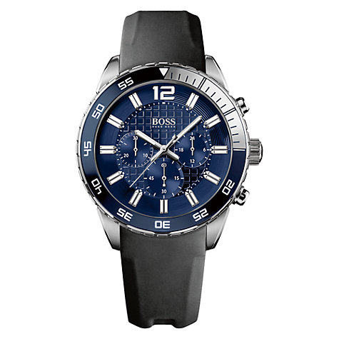 Buy BOSS 1512803 Men's Blue Dial Chronograph Watch Online at johnlewis.com