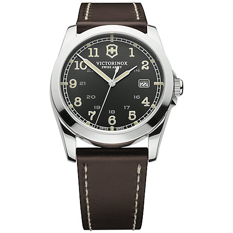 Buy Victorinox Men's Infantry Vintage Leather Strap Watch Online at johnlewis.com