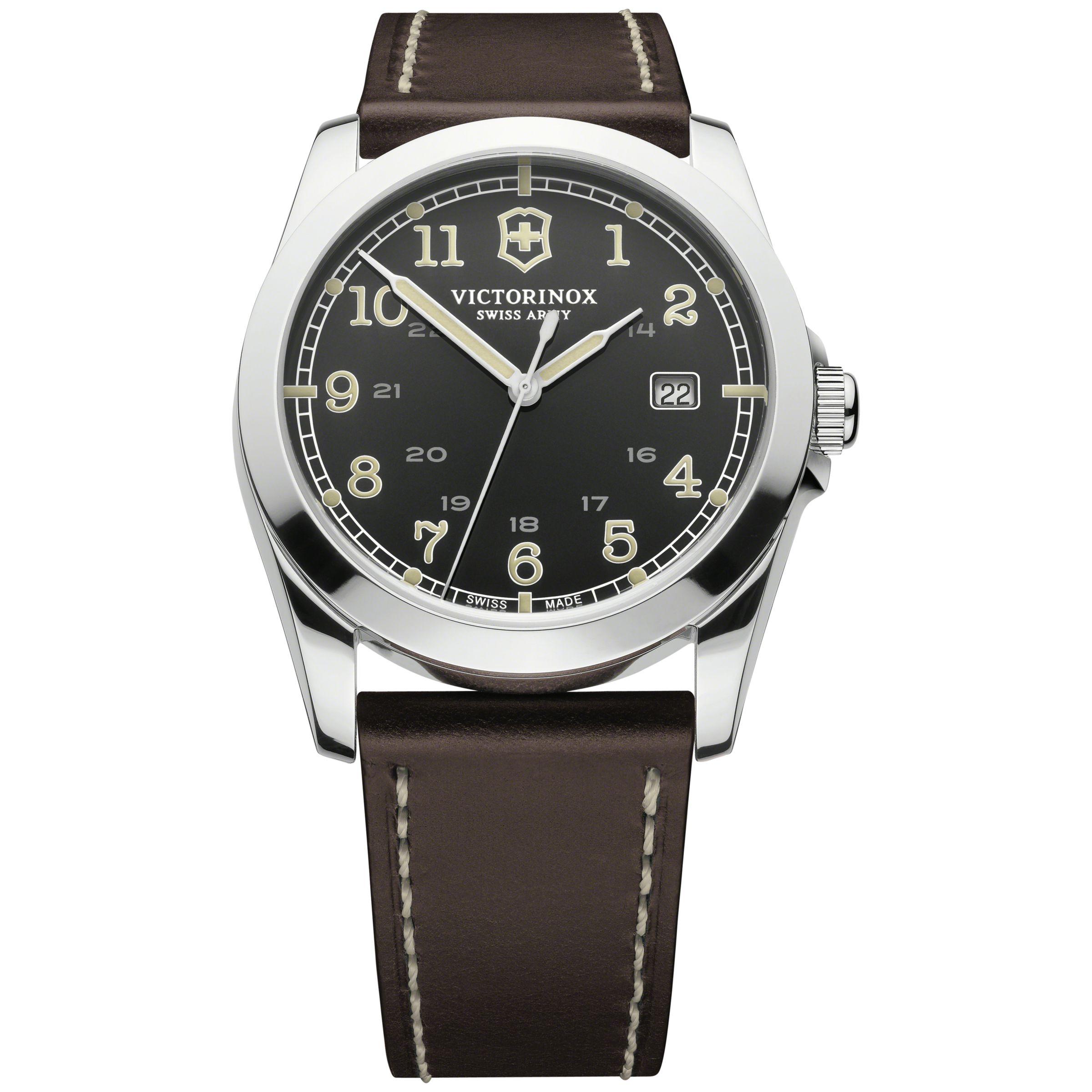 Victorinox Victorinox Men's Infantry Vintage Leather Strap Watch