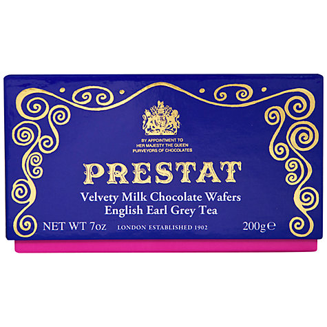 Buy Prestat Earl Grey Tea Milk Chocolate Thins, 200g Online at johnlewis.com