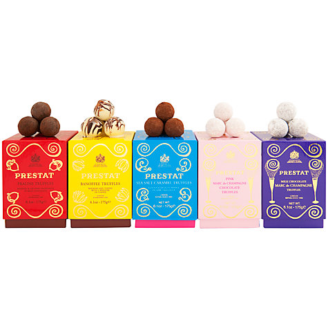 Buy Prestat Marc De Champagne Milk Chocolate Truffles, 175g Online at johnlewis.com