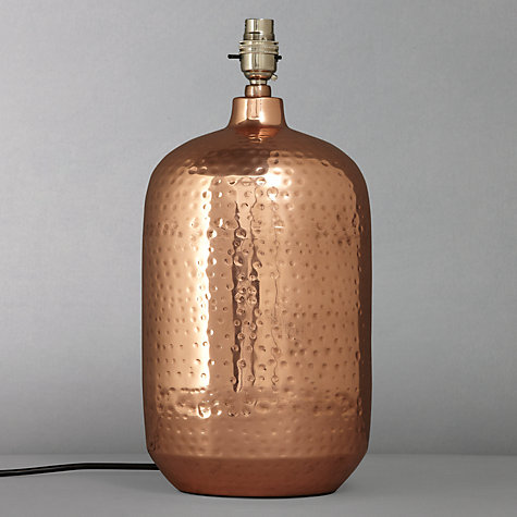 Buy John Lewis Squoval Lamp Base, Copper Online at johnlewis.com
