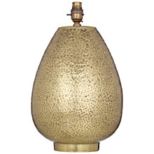 Buy John Lewis Valda Pot Lamp Base, Brass Online at johnlewis.com