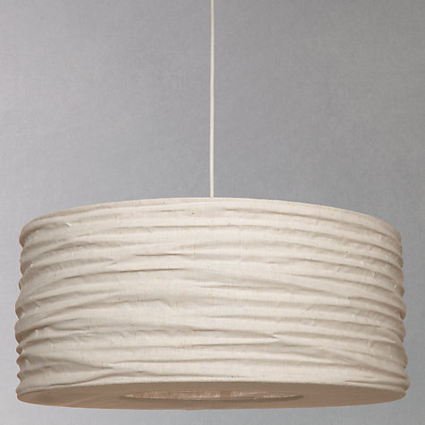 Buy John Lewis Easy-to-fit Lizzie Cotton Ribbed Pendant Shade, Dia.50cm Online at johnlewis.com