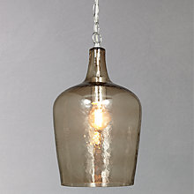 Buy John Lewis Murray Smoke Dimpled Glass Pendant Online at johnlewis.com