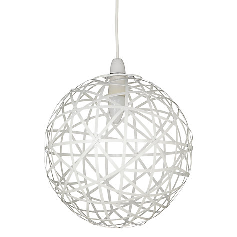 Buy John Lewis Easy-to-fit Nova Geo Ball Shade, White, Dia.30cm Online at johnlewis.com