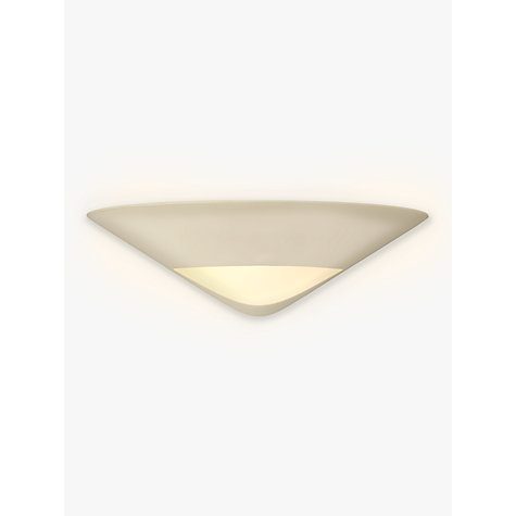 Buy John Lewis Tessa Plaster and Glass Wall Uplighter Online at johnlewis.com