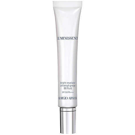 Buy Giorgio Armani Luminessence Bright Revelator BB Fluid SPF 50 PA+++, Universal Greige Online at johnlewis.com