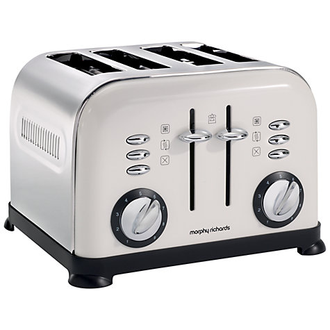 Buy Morphy Richards Accents 44037 4-Slice Toaster, White Online at johnlewis.com