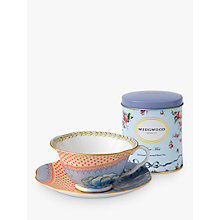 Buy Wedgwood Butterfly Bloom Cup and Saucer Set, Orange + FREE Tea Caddy Online at johnlewis.com