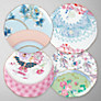 Wedgwood Butterfly Bloom Tea Plates, Set of 4, Dia.21cm