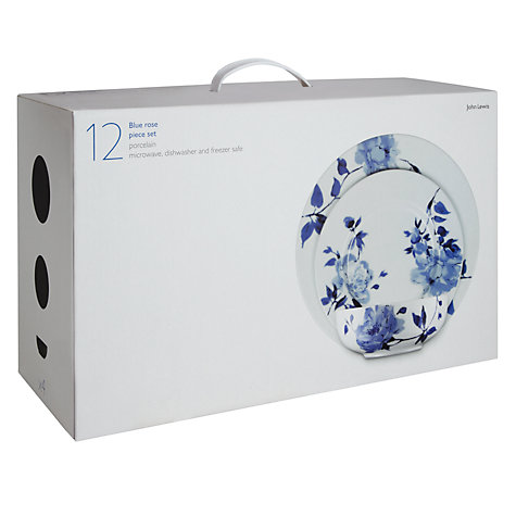Buy John Lewis Blue Rose Boxed Set, 12 Piece Online at johnlewis.com