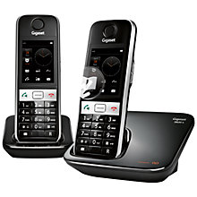 Buy Gigaset S820A Digital Touch Screen Telephone and Answer Machine, Twin DECT, Black Online at johnlewis.com