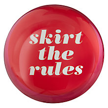 Buy kate spade new york Say the Word 'Skirt the Rules' Paperweight Online at johnlewis.com