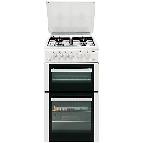 Buy Beko BDG584W Gas Cooker, White Online at johnlewis.com
