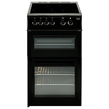 Buy Beko BDVC563AK Electric Cooker, Black Online at johnlewis.com