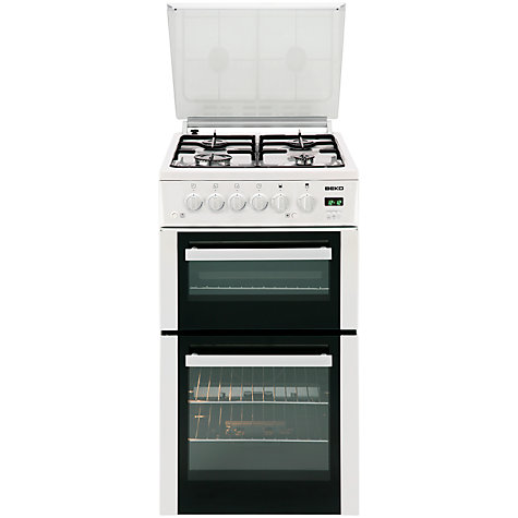 Buy Beko BDVG595W Gas Cooker, White Online at johnlewis.com