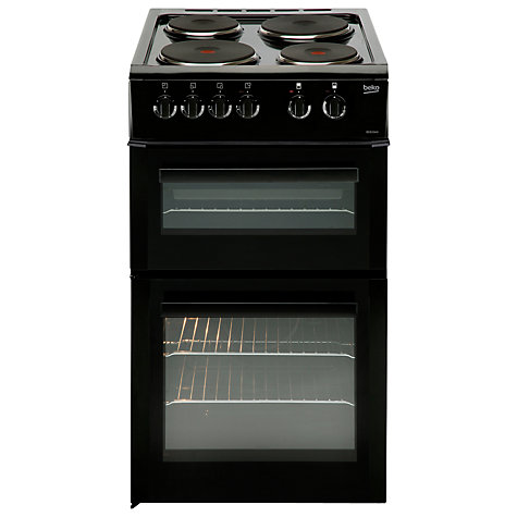 Buy Beko BD533AK Electric Cooker, Black Online at johnlewis.com