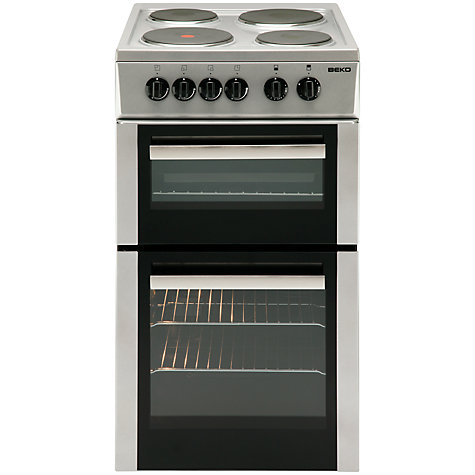Buy Beko BD533AS Electric Cooker, Silver Online at johnlewis.com
