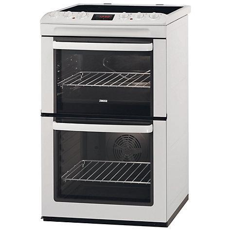 Buy Zanussi ZCV552MWC Electric Cooker, White Online at johnlewis.com