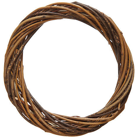 Buy John Lewis Round Willow Wreath, 15cm Online at johnlewis.com