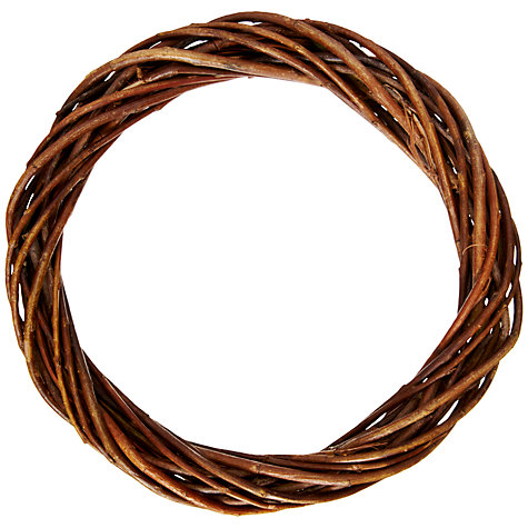 Buy John Lewis Willow Wreath, 25cm Online at johnlewis.com