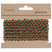 Buy John Lewis Bobble Trim, 5m, Red/Green/Gold Online at johnlewis.com