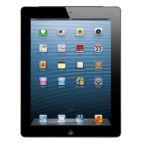 "Buy Apple iPad with Retina Display, Apple A6X, iOS 6, 9.7"", Wi-Fi, 64GB, Black Online at johnlewis.com"