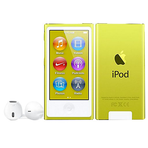 Buy Apple iPod nano,16GB, Yellow Online at johnlewis.com