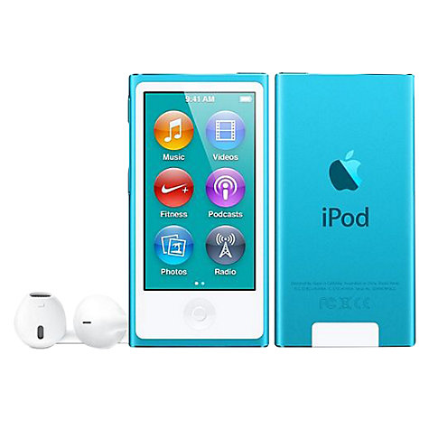 Buy Apple iPod nano,16GB, Blue Online at johnlewis.com
