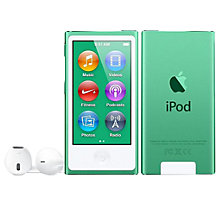 Buy Apple iPod nano,16GB, Green Online at johnlewis.com