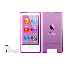Buy Apple iPod nano,16GB, Purple Online at johnlewis.com