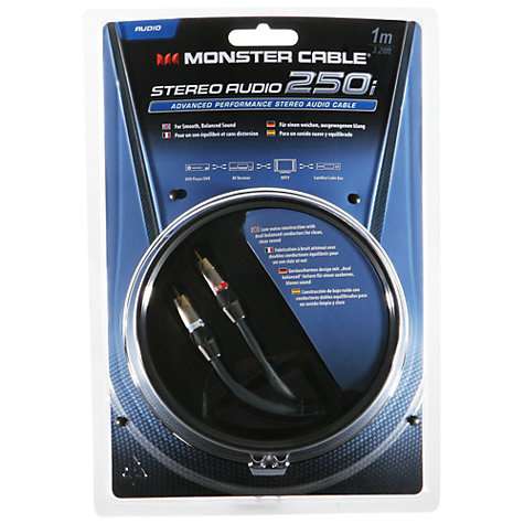 Buy Monster Stereo Audio 250i Advanced Performance Cable, 1m Online at johnlewis.com