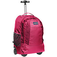 Buy JanSport Driver 007 Wheeled Backpack, Pink Tulip Online at johnlewis.com