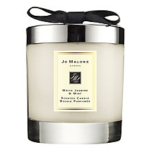 Buy Jo Malone London White Jasmine & Mint Home Candle, 200g Online at johnlewis.com
