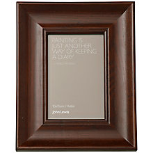 "Buy John Lewis Dark Wood Photo Frame, 4 x 6"" (15 x 10cm) Online at johnlewis.com"