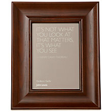 "Buy John Lewis Dark Wood Photo Frame, 5 x 7"" (13 x 18cm) Online at johnlewis.com"