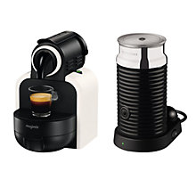 Buy Nespresso M100 Essenza Coffee Machine and Aeroccino3 by Magimix, White Sand Online at johnlewis.com