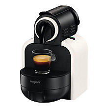 Buy Nespresso M100 Essenza Coffee Machine by Magimix, White Sand Online at johnlewis.com